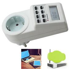 12/24Hour LCD Digital Power Programmable Timer Socket Switch LCD Display EU Plug