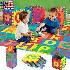36Pcs Toy Baby Child Kids Number Alphabet Puzzle Foam Maths Educational Usa
