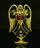 SWAROVSKI CRYSTAL ELEMENT OCTOBER BIRTHSTONE ROSE ANGEL 24K GOLD PLATED