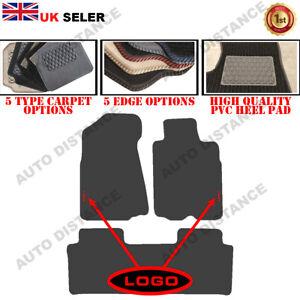 Tailored Carpet Car Mats With Heel Pad FOR Honda CRV Manual WITH LOGO 2001-2006