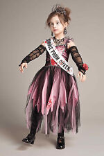 NWT 12-14 PINK GIRLS CHASING FIREFLIES ZOMBIE PROM QUEEN DRESS COSTUME