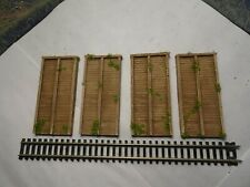 N GAUGE TRACK SIDE RETAINING WALL SECTIONS 4 (WOOD)