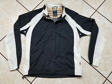 Rare Burberry Nova Check Golf Full Zip Windbreaker Jacket Adult Size Medium