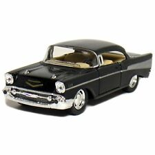 "New 5"" Kinsmart 1957 Chevrolet Bel Air Diecast Model Toy Car 1:40 Chevy Black"