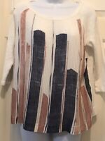 ONE SEPTEMBER Anthropologie White Peasant Boho Blush Blue Blouse Top Size XS