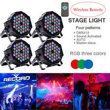 4 x Wireless Remote 36LED 80W RGB Par Stage Lighting Wedding DJ Party Club Light