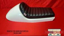 Asiento grande BMW Cafe Racer Style Blanco Con Perno Encendido/Apagado De Lujo Negro Pad