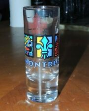 """Montreal Canada Double SHOT GLASS 4"""" Tall measuring glass"""