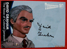 THUNDERBIRDS 50 YEARS - David Graham - as COLONEL JAMESON - Autograph Card DG6