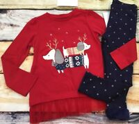 Gymboree 18-24 2T 3T North Pole Party Puppy Tulle Top Cozy Leggings NWT Outlet
