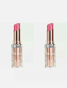 2X L'Oreal Paris Makeup Colour Riche Plump and Shine Lipstick Guava Plump # 104