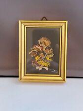 Vintage handmade Intirol Austria Dried Flower Miniature Picture.