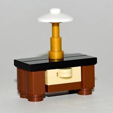 LEGO Furniture: Large Bedroom Nightstand w/ Lamp  -  Instructions & Parts