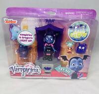 Disney Junior VAMPIRINA GLOWTASTIC FRIENDS Playset Light Up Doll Figurine New