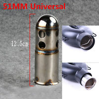 51mm Motorcycle Exhaust Insert DB Killer Catalytic Silencer Muffler w/ Vent Hole