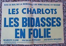 ANCIENNE AFFICHE CINEMA LES CHARLOTS DANS LES BIDASSES EN FOLIE