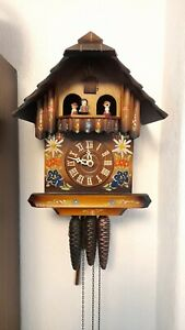 West Germany Black Forest musical cuckoo clock,hand painted, regula movement