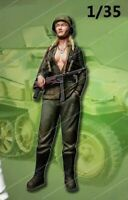 1/35 Resin Figure Model Kit Sexy Girl US Soldier WWII WW2 Unpainted Unassambled