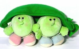 Vintage 80s Avon Somersaults 2 Two Peas In A Pod Plush Stuffed Animal Toy 1986