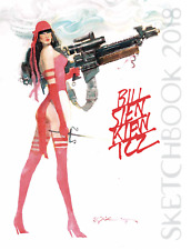 BILL SIENKIEWICZ SDCC 2018 HARDCOVER SKETCHBOOK SIGNED