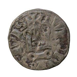"""France Louis IX """"Saint Louis"""" Billon Denier Tournois Civis Medieval Coin"""