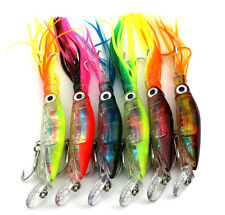 6x Zori Squid Skirts Trolling Bait Hardbody Fishing Lure Tuna Marlin Kingfish