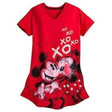 Sleepshirt Disney Minnie & Mickey Mouse womens size XL-2XL new red cotton