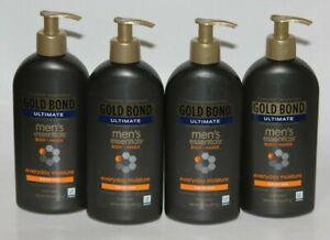LOT (4) GOLD BOND ULTIMATE MEN LOTION BODY & HANDS DRY SKIN FRESH SCENT 14.5 OZ