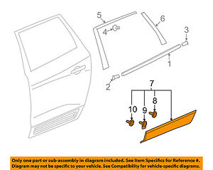 Buick GM OEM 13-16 Enclave Rear Door Body Side-Lower Molding Trim Right 23426201