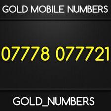 GOLD 0777 GOLDEN EASY VIP DIAMOND PLATINUM 0777 MOBILE NUMBER 07778077721