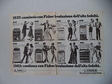 advertising Pubblicità 1982 STEREO FISHER