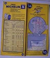 #) carte MICHELIN 54 CHERBOURG - ROUEN 1961