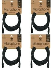 4 PACK- Planet Waves 10' Foot Ft Classic Series XLR Microphone Mic Cable