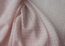 Swiss Cotton Pink Hailspot fine fabric 140cms wide, Price is for 1/2 mtr