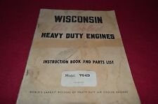 Wisconsin VG4D Engine Parts & Operator Manual YABE8