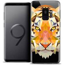 """Cover Custodia Per Samsung Galaxy S9 5.8"""" Polygon Animale Flessibile Fine Tigre"""
