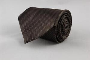 BANANA REPUBLIC Silk Tie. Brown w White Dots