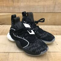 Adidas Mens Crazy BYW X Basketball Shoes Black DB2743 Lace Up Mid Top 9.5 New