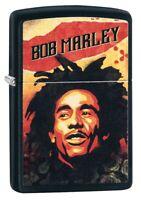 Zippo Bob Marley Illustration Black Matte Windproof Pocket Lighter, 49154