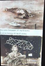 "William Kentridge ""Man Under Newspaper "" Modern South African Art 35mm Slide"