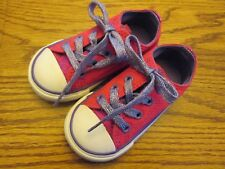 Converse All Star size 5 pink & purple lace-up athletic shoes Ex.