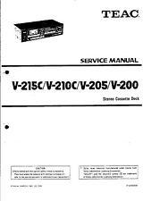 TEAC Service Manual per v-215c/V - 210c/v - 205/v - 200