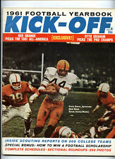 Kick-Off Football Yearbook 1961 Magazine vtg NCAA NFL AFL - Ernie Davis Syracuse