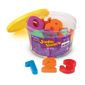 Learning Resources Jumbo Magnetic Letters and Numbers, Numbers/Operations