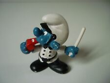 Figurine Schlumpf Smurfs 20123 2.0123 Schtroumpfs Policier - PEYO 1981 Schleich