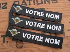 Bande patronymique .: NOIRE + Brevet PARA TAP :. LoT de 3 patro PERSONNALISABLE