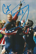 Curtis Tomasevicz Signed 4x6 Photo USA Bobsled Vancouver Olympics Gold Medal