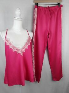 FREDERICK'S OF HOLLYWOOD PAJAMA SET 2  SIZE- XL COLOR PINK /NEW $59.50