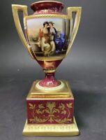 Malerei und Poesie Royal Vienna Austria Victorian Painted Lidded Pedestal Vase