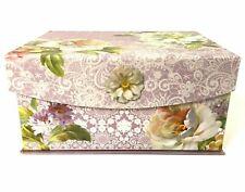 Apple Storage Box, Purple Floral Design, by Wild